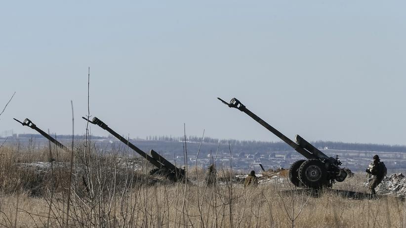 Ostukraine: Kanonen der ukrainischen Armee