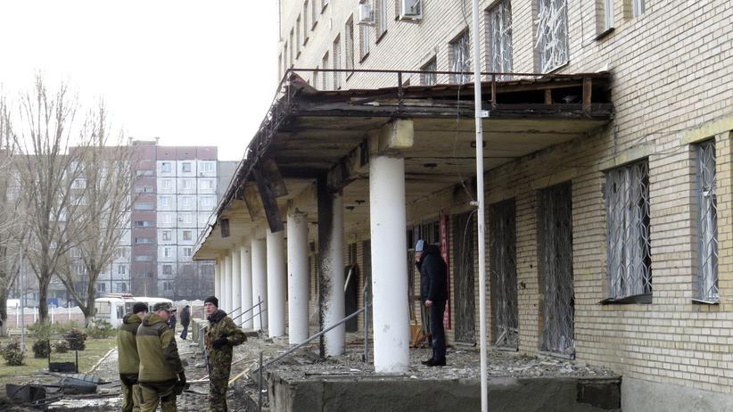 Ukraine: Krankenhaus in Donezk mit Artillerie beschossen