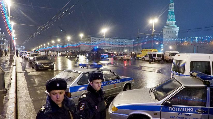 Boris Nemzow: Der Tatort des Mordes an Boris Nemzow in Moskau