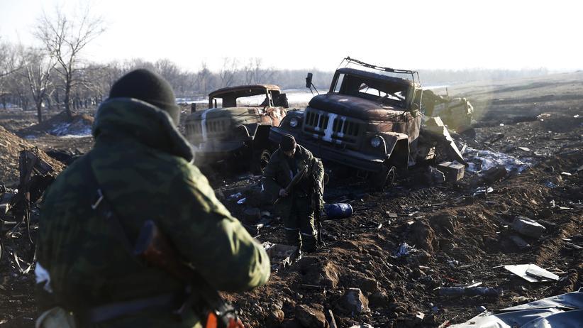 Aufständische Kämpfer in der Ostukraine: Auch Deutsche sollen sich ihnen angeschlossen haben.