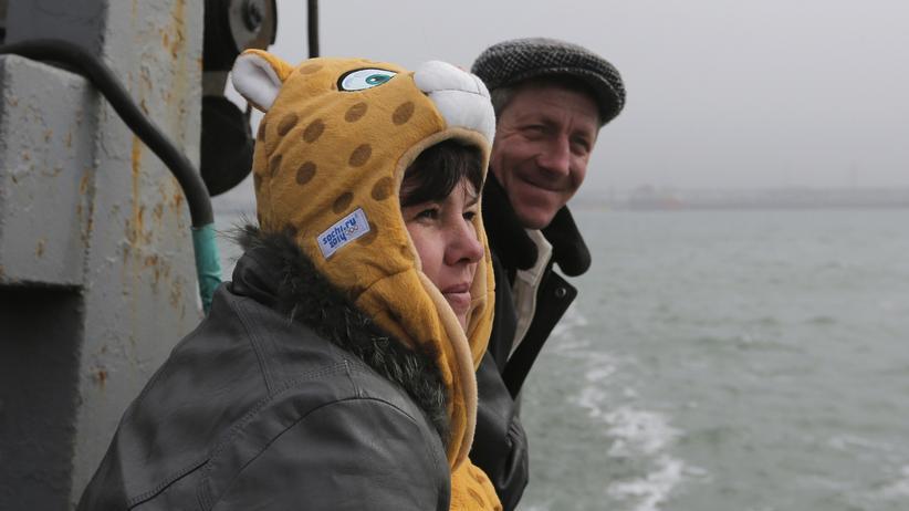 Passagiere auf der Fähre zwischen Kertsch auf der Krim und dem russischen Festland (Archiv)