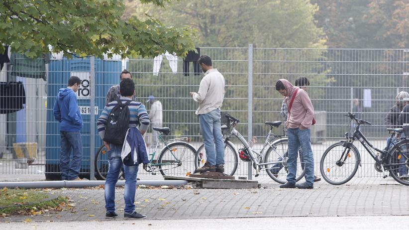Asylbewerber in einem Münchener Flüchtlingsheim