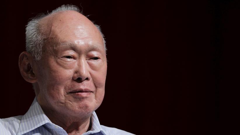 Finanzmetropole: Lee Kuan Yew im Jahr 2011