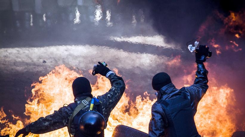 Ukraine: Die Proteste auf dem Maidan in Kiew gegen den damaligen ukrainischen Präsidenten Viktor Janukowitsch wurden gewaltsam niedergeschlagen. (Bild vom 18. Februar 2014)