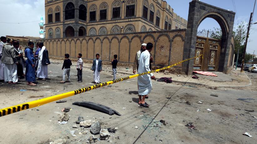 Sanaa: Moschee in Sanaa nach dem Anschlag