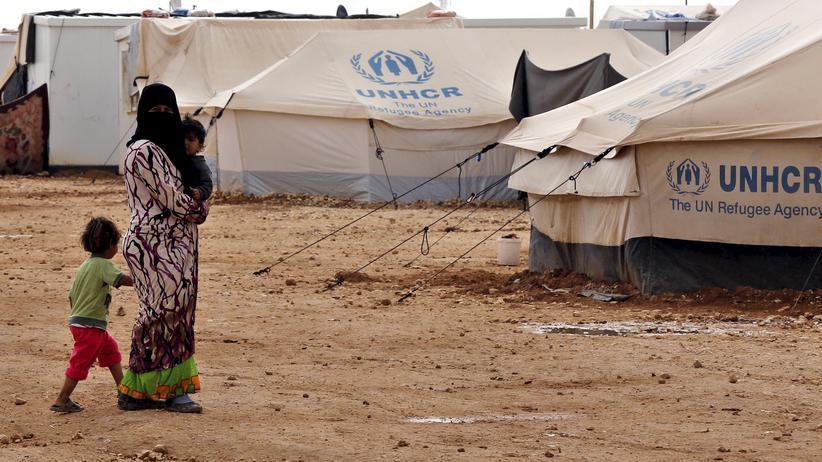 Syrische Flüchtlinge in einem Lager in Jordanien