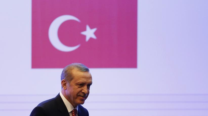 Völkermord-Streit: Der türkische Ministerpräsident Recep Tayyip Erdoğan während einer Konferenz in Mexiko im Februar