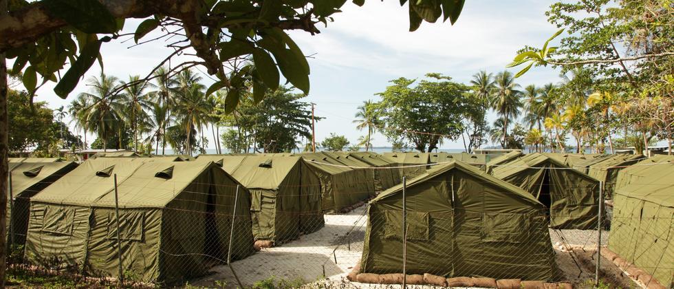 Das Lager für Flüchtlinge auf der zu Papua Neu Guinea gehörenden Insel Manus (Archivbild)