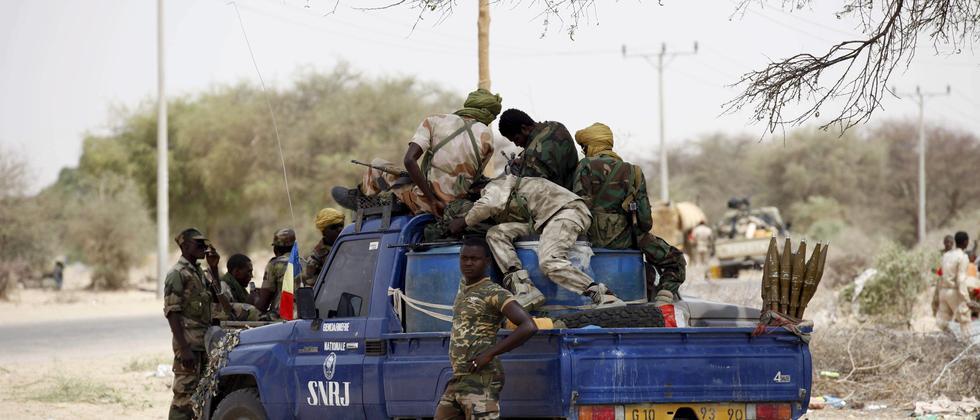 Soldaten aus dem Tschad unterstützen Nigeria im Kampf gegen Boko Haram.
