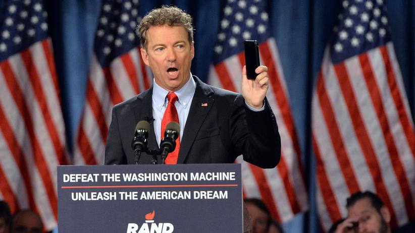 Rand Paul: Rand Paul bei seiner Rede in Louisville, Kentucky