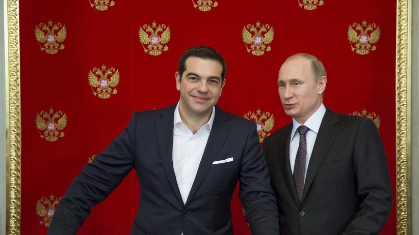 Alexis Tsipras und Wladimir Putin bei ihrem Treffen in Moskau
