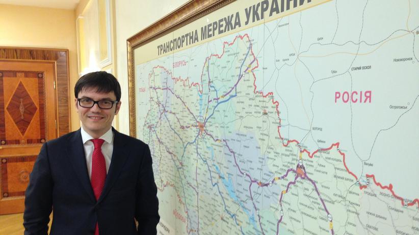 Andriy Pywowarsky in einem Besprechungsraum im Ministerium für Infrastruktur in Kiew.