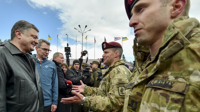 Ukraine-Krieg: Politik, Ukraine-Krieg, Petro Poroschenko, US-Militär, USA, Russland, Ukraine