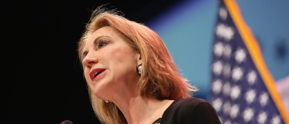 Die ehemalige HP-Chefin Carly Fiorina in Iowa