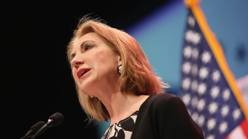 Die ehemalige HP-Chefin Carly Fiorina in Iowa