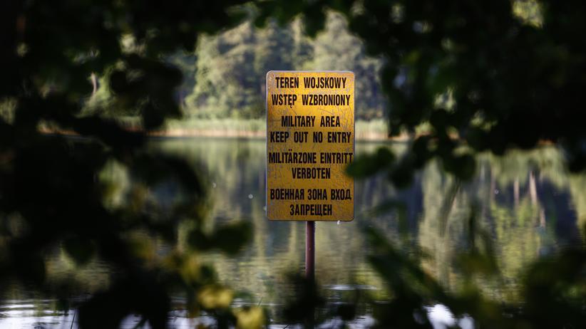 Europäischer Gerichtshof: Ein Hinweisschild nahe Stare Kiejkuty im Norden Polens, wo die CIA zwischen 2002 und 2003 ein Gefängnis betrieb.