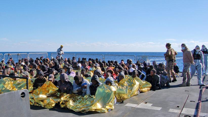 Flüchtlinge aus Afrika auf Sizilien