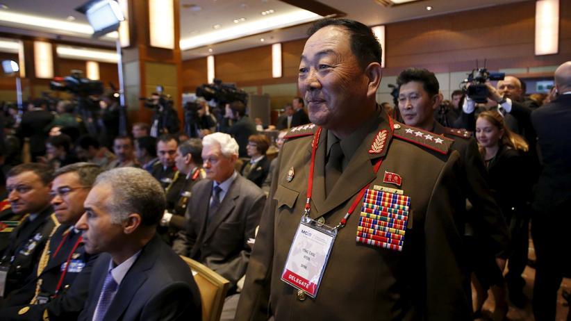 Nordkorea: Nordkoreas Verteidigungsminister Hyon Yong Chol bei einer Sicherheitskonferenz Mitte April in Moskau
