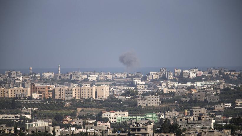 Bombenrauch über dem Gazastreifen