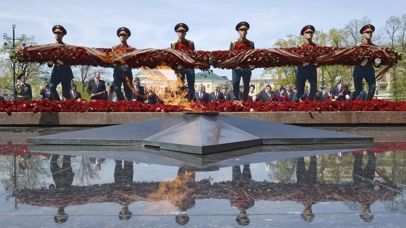 Moskau Parade Siegesfeier
