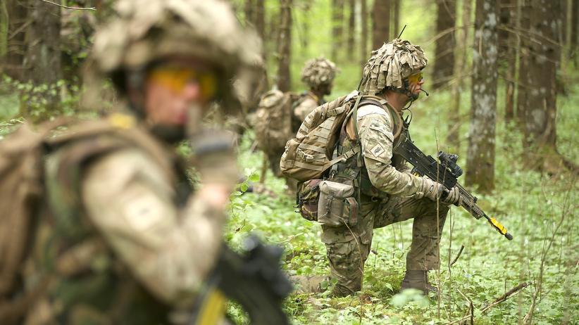 Ukraine-Krise: Eine Nato-Militärübung in Estland im Mai 2014