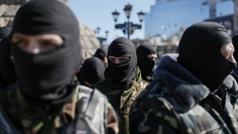 Prowestliche Kämpfer Ukraine
