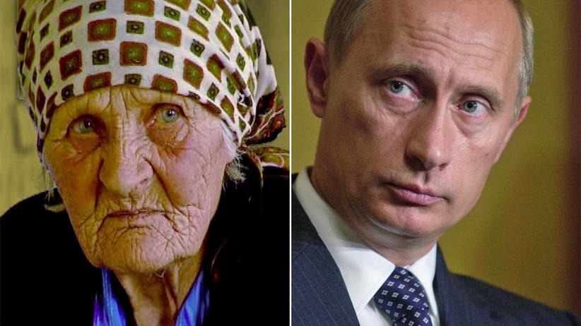 Wladimir Putin: Vera Putina, 89, Landmaschinen-Mechanikerin. Wladimir Putin, 62, Staatspräsident