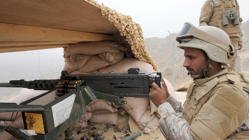 Jemen: Ein saudischer Soldat an der Grenze zum Jemen