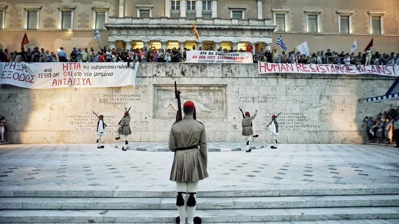 Politik, Griechenland, Griechenland, Syriza, Alexis Tsipras, Ministerpräsident, Athen, Regierung, Regierungschef, Regierungssprecher, Rentenreform, Fernsehen, Heimat, Reform