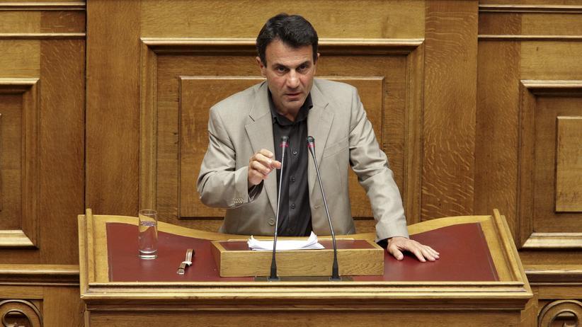 Griechenland: Costas Lapavitsas im Parlament in Athen (Archivbild)
