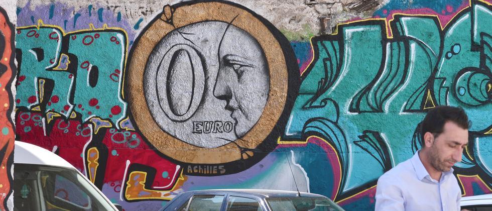 Ein Graffito in Athen