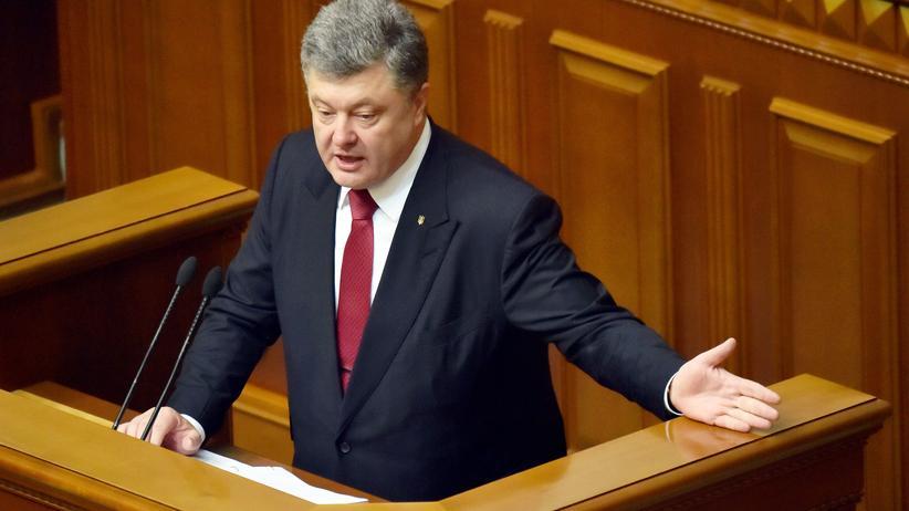 Petro Poroschenko, Präsident der Ukraine, bei der jährlichen Rede an die Nation im Parlament in Kiew