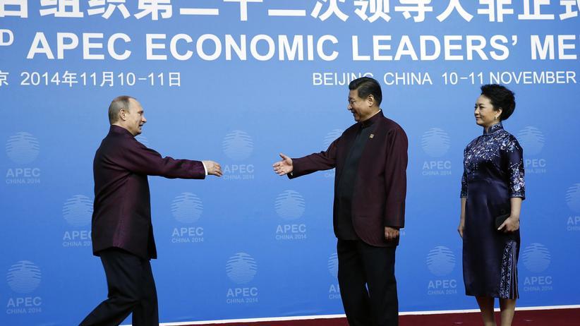 Russlands Präsident Wladimir Putin trifft den chinesischen Präsidenten Xi Jinping (November 2014)
