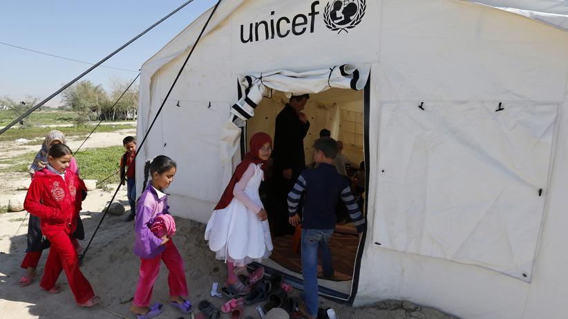 Unicef: Syrische Kinder in einem jordanischen Flüchtlingslager (Archiv)