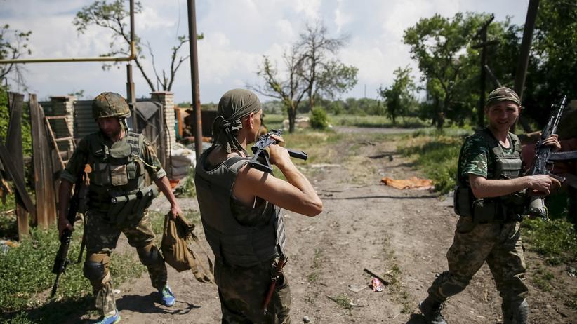 Ukraine-Konflikt: Ukrainische Soldaten in der Ostukraine am 5. Juni