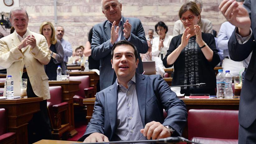 Politik, Sparprogramm, Alexis Tsipras, Sparvorschlag, Europäische Union, Griechenland, Euro-Zone, Ministerpräsident