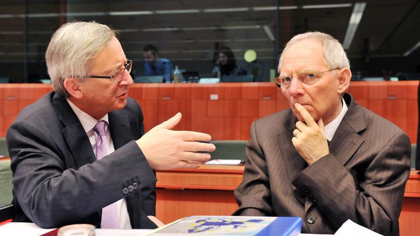 Europäische Union: Juncker und Schäuble bei einem Eurogruppen-Treffen in Brüssel (Archivbild)