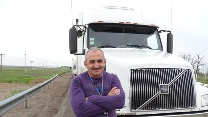 Ukrainischer LKW-Fahrer Michail
