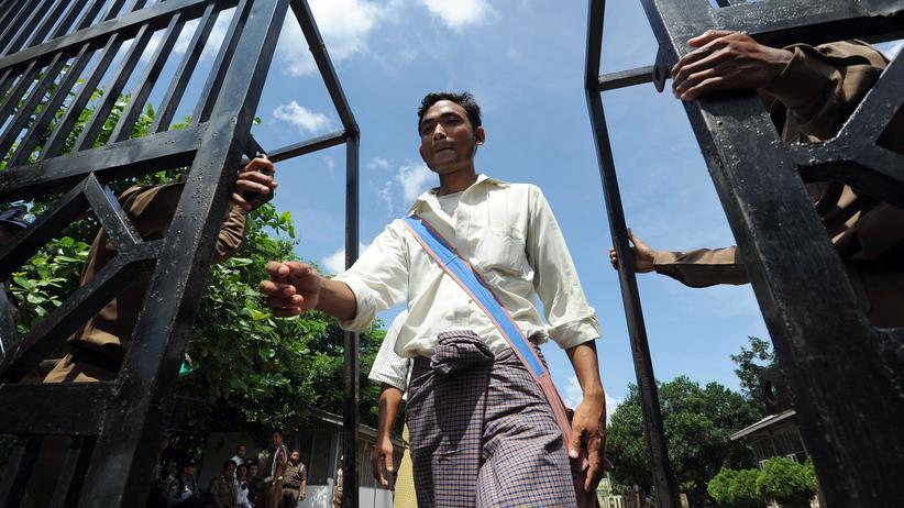 Amnestie: Ein Gefangener im Zentralgefängnis von Rangun (Archivbild)