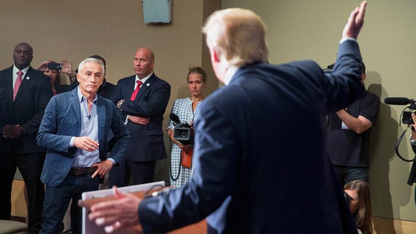 US-Wahlkampf: Trump gerät erneut mit Journalisten aneinander