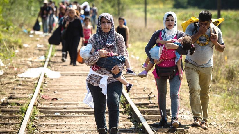 Balkan-Konferenz: Hauptthema in Wien: Flüchtlinge in Serbien auf dem Weg zur ungarischen Grenze