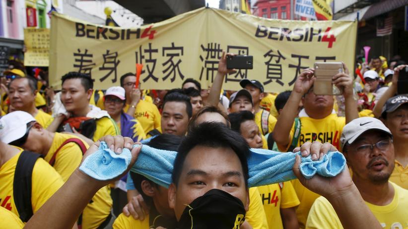 Malaysia Rücktritt Najib Razak Demonstration