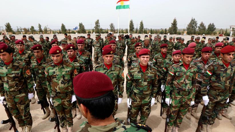Kurdische Peschmerga in Erbil