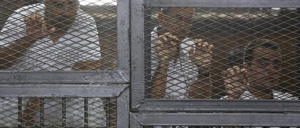 Peter Greste Mohamed Fahmy Baher Mohammed Journalisten Haft Verurteilung Ägypten