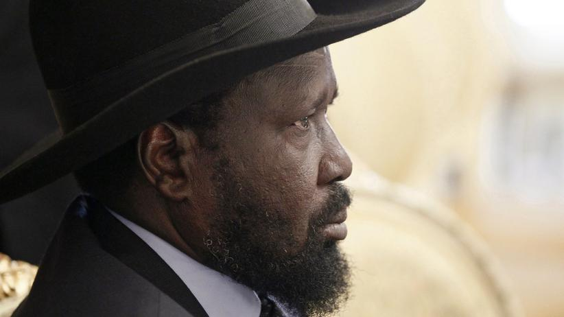 Pressefreiheit: Salva Kiir in Addis Abeba (Archivbild)