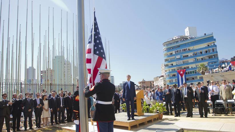 Havanna: Amerikanische Flagge flattert wieder auf Kuba