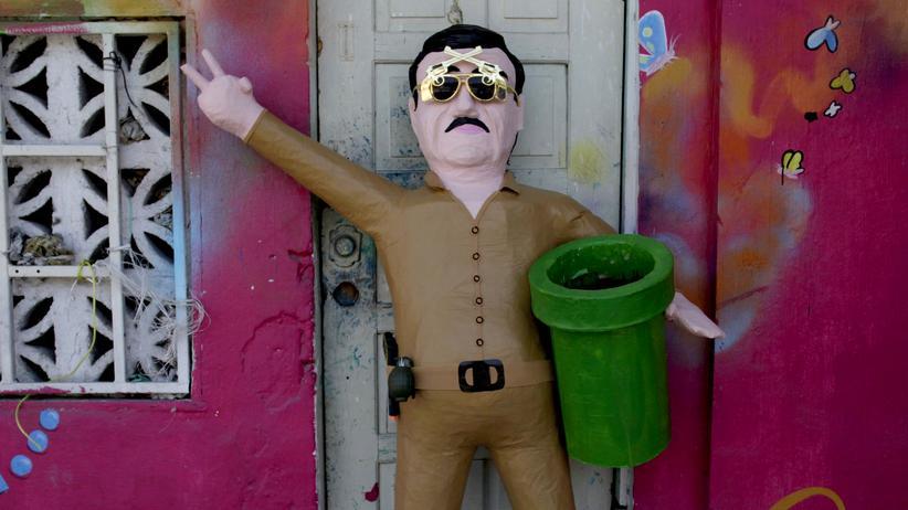 Mexiko: Eine Pappmaché-Ausgabe von El Chapo im nordmexikanischen Reynosa