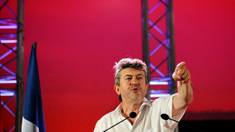 Left-wing nationalism: Jean-Luc Mélenchon, leader of the France's Left Front