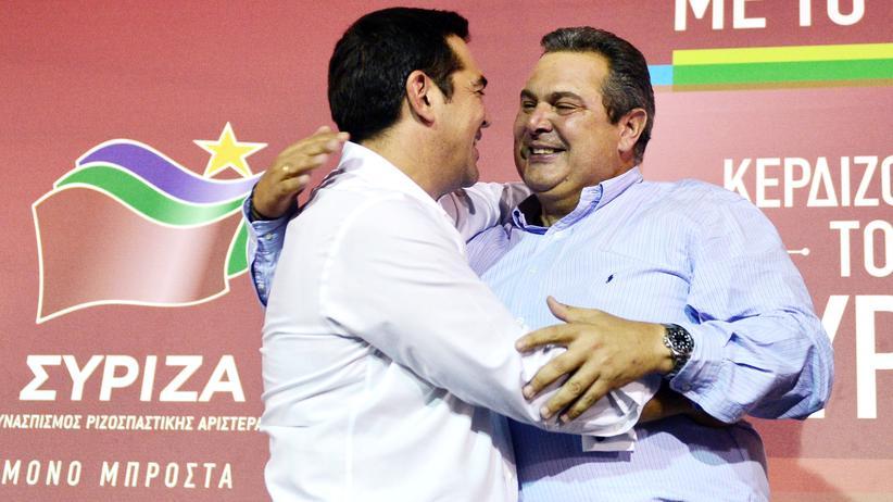 Politik, Griechenland-Wahl, Parlamentswahl, Panos Kammenos, Griechenland, Alexis Tsipras, Syriza, Athen