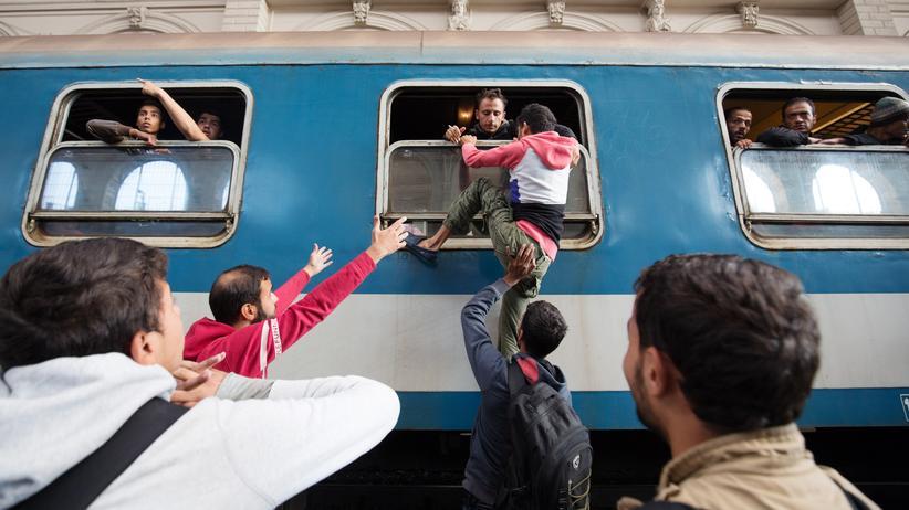 Budapest Ungarn Bahnhof Flüchtlinge Syrien